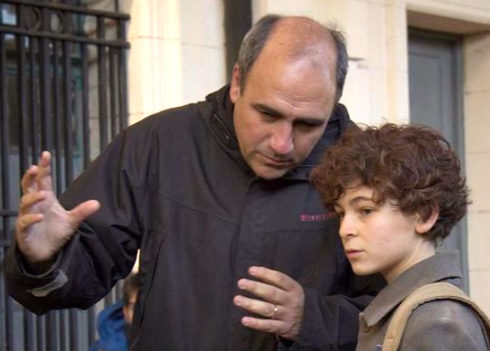 Juan Pablo Buscarini durante el rodaje de El inventor de juegos